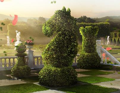 Chess in Garden