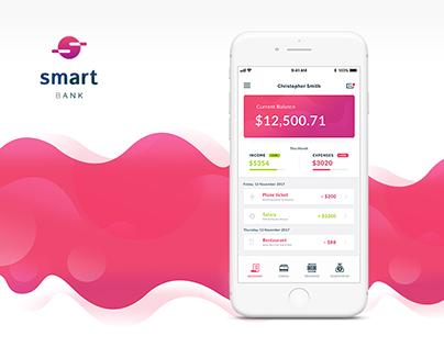 Smart Bank App / Design concept