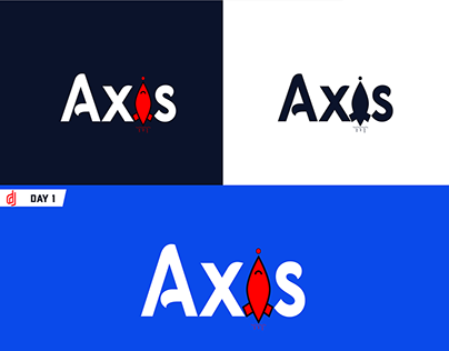 Axis Logo design (rocketship)