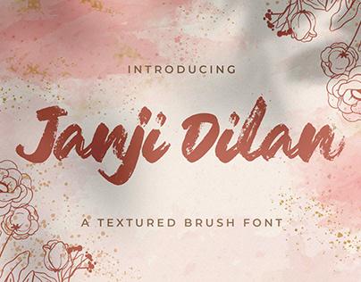 Janji Dilan - Textured Brush Font