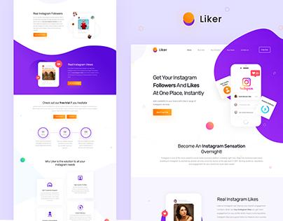 Wepage design for Liker