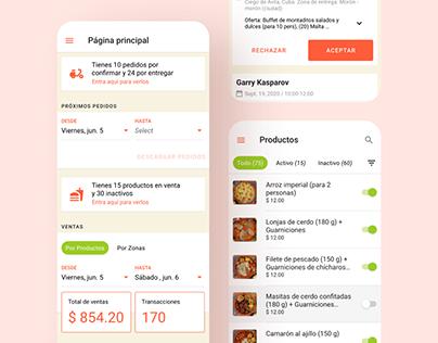 UI/UX WebApp AlaMesa Rest. Admin Dashboard