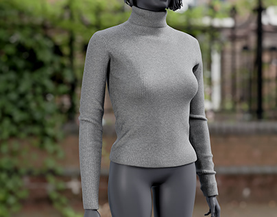Realistic 3D model of Women's Pullover