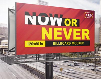 Billboard Mockup Psd 120×60