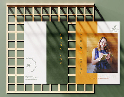 Brand Identity + Collateral Design for Madison Toth