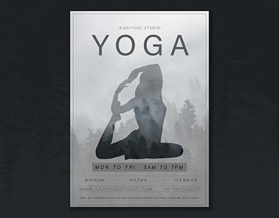 Yoga Ad Flyer | YogaPoster | Yoga ClassesPoster Ad