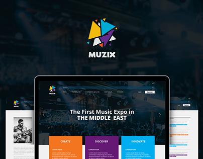 MUZIX - Event Website
