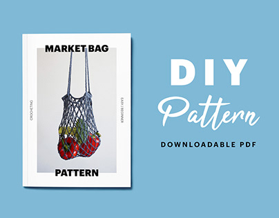 DIY crochet market bag pattern booklet