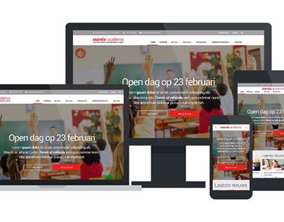 Website Concept + uitvoering Marnix Academie