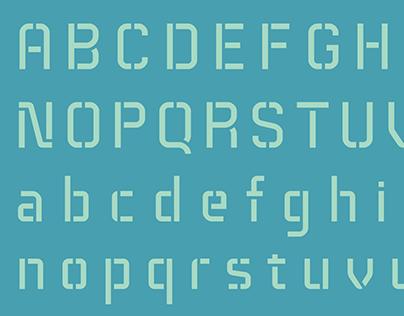 Technical Stencil VP Typeface