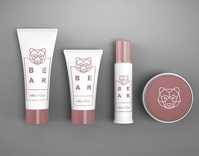 Bear Skin Care Cosmetics Mockup