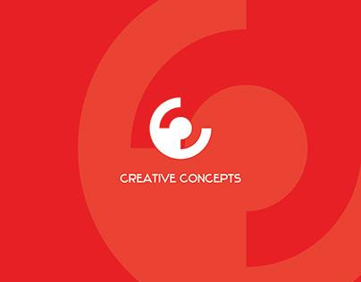 Clean Minimalist Negative Space Creative Concepts Logo