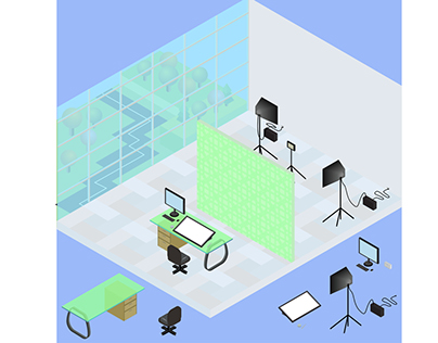 Isometric elements for house interior