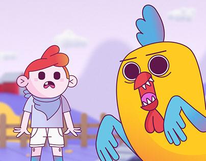 AnimaGIF - Kung Fu Kid Vs Chicken