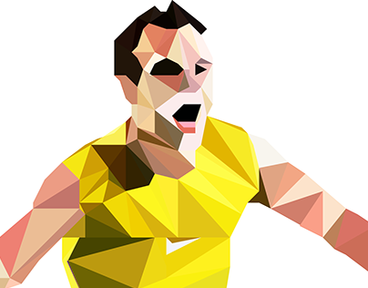 Andres Iniesta in Low Poly