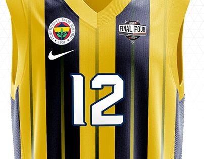 Fenerbahçe Basketball Home Kit Design