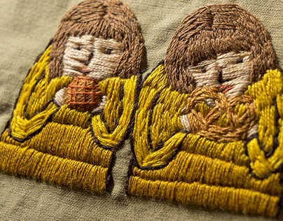 embroided illustrations