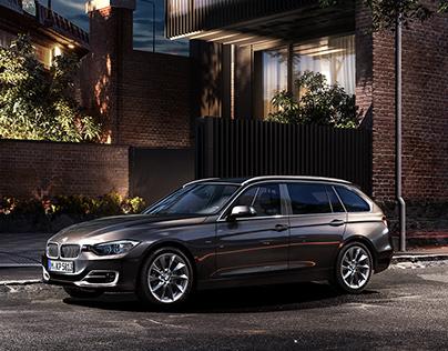 BMW 3 Touring Night Trip. CGI
