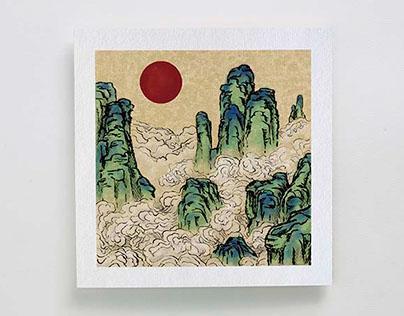 Illustration greeting cards