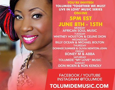 TolumiDE music and concert flyers