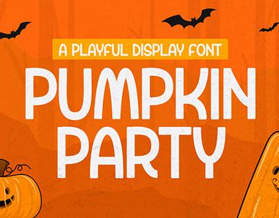 Pumpkin Party - Playful Display Font