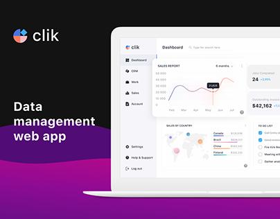 CLIK — CRM-system UX/UI Redesign