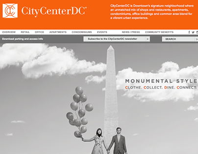 CityCenterDC Website Redesign