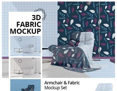 Armchair & Fabric Mockup Set