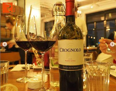 Rượu vang Ý Crognolo Toscana 750ml