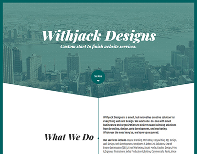 Withjack Designs - 2018 Website