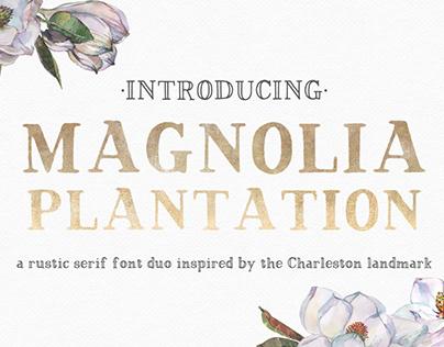 Magnolia Plantation Rustic Serif Font Duo