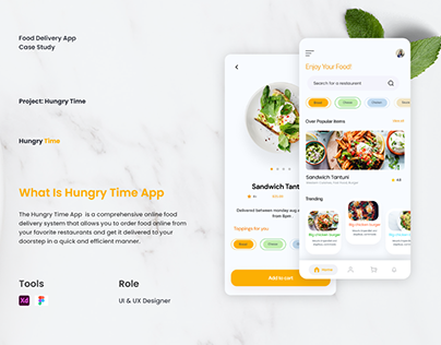 UI/UX Case Study on Food Delivery App