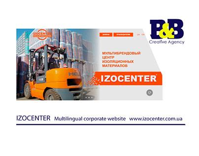 IZOCENTER Multilingual corporate website