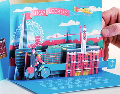 Cityscape Pop Up Card – 3D London Paper