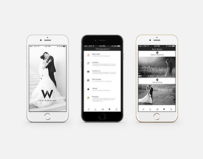 Photography mobile ui design
