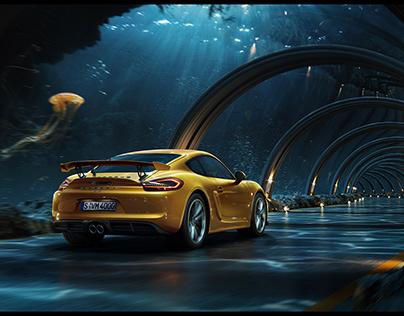 Mondlicht Studios: Porsche Underwater Road