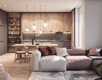 interior design and rendering with high quality