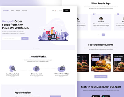 Food 🍔 Delivery Website landing page