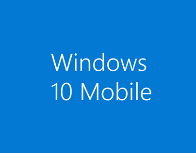 Windows 10 Mobile Concept