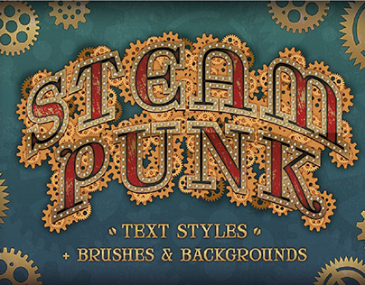 Steam Punk Text Styles + Bonus By: The Artifex Forge
