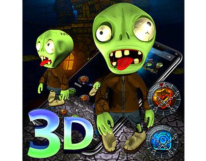 3D Zombie Launcher Theme 👻
