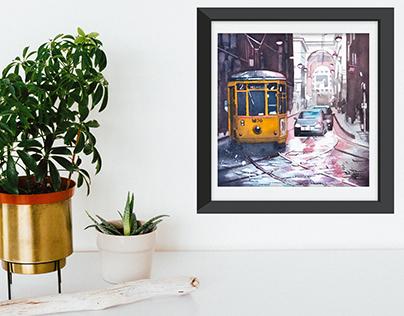 Milan in Watercolour