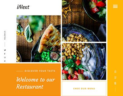 Restaurant OnePage Design