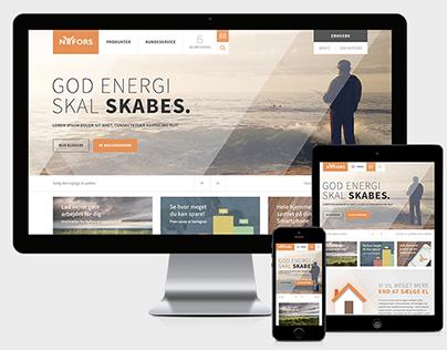 Nyfors.dk – Energy Company Website