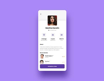 Free Online Tutor Mobile App UI Kit