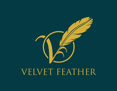 velvet feather logo design