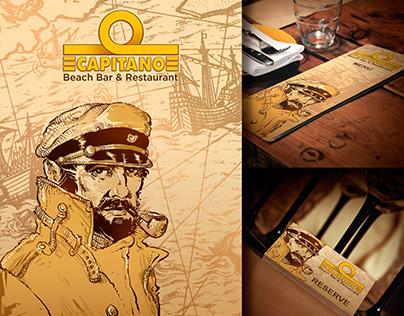 Illustration and design for beach bar & restaurant