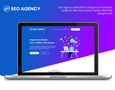 SEO Agency Website UI Design
