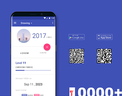 10000+ (10000 hours tracking app)