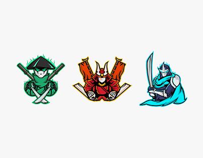 Bushido - Japanese Mascot Logos
